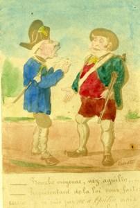 France Hunter Humoristic Cartoon Caricature Lavrate Old Ségoffin CDV Photo 1860