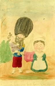 France Zouave Humoristic Cartoon Caricature Lavrate Old Ségoffin CDV Photo 1860