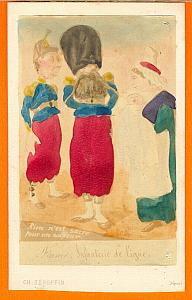 Zouave Humoristic Cartoon Caricature Lavrate CDV 1860
