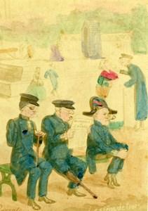 France Invalides Humoristic Cartoon Caricature Lavrate Ségoffin CDV Photo 1860
