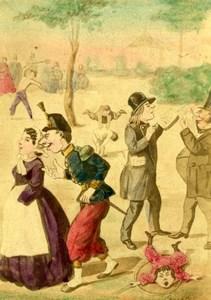 France Luxembourg Humoristic Cartoon Caricature Lavrate Ségoffin CDV Photo 1860