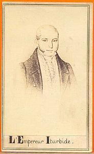 Emperor Augustin ITURBIDE, Mexico, old Merille CDV 1865
