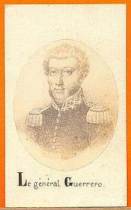 President Vincente Guerrero, Mexico, Merille CDV 1865