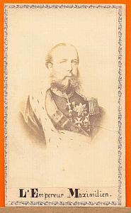 Emperor Maximilien, Mexico, old Merille CDV Photo 1865'
