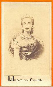 Empress Carlota of Mexico, old Merille CDV Photo 1865'