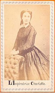 Empress Charlotte, Mexico, old Merille CDV 1865'