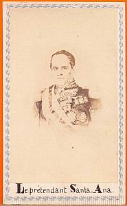 President Santa Anna, Mexico, old Merille CDV 1865'