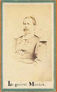 General Mendez , Mexico, old Merille CDV 1865'