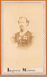 President Miguel Miramon, Mexico, old Merille CDV 1865'