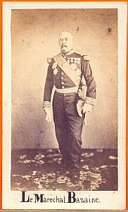 François Achille Bazaine, Mexico, old Aubert CDV 1865'