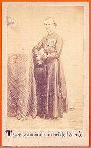 Military Chaplain Testori, Mexico, old Merille CDV 1864