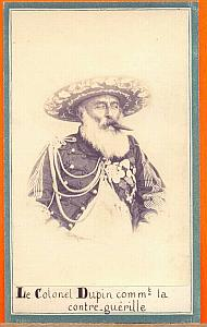 Colonel Charles Dupin, Mexico, old Merille CDV 1865'