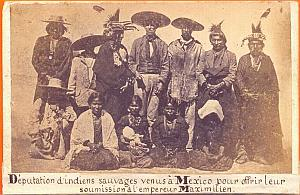 Kickapoo Indians Delegation Mexico old Merille CDV 1865