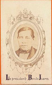 President Benito Juarez, Mexico, old Merille CDV 1865'