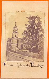 Tacubaya Church, Mexico, old Photo CDV 1865'