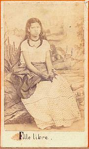 Indian woman single, Mexico, old Merille CDV 1865'