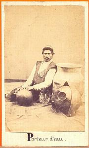 Water-Carrier, Mexico, old Merille CDV 1865'