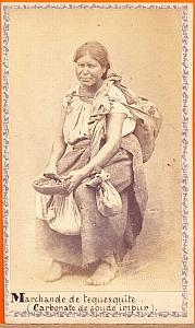 Native Tequesquite seller, Mexico, old Merille CDV 1864