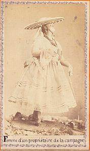 Country Landowner Wife, Mexico, old CDV 1865'