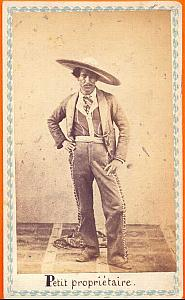 Mexican Farmer landowner, Mexico, old Merille CDV 1865'