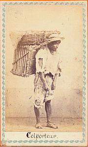 Native Peddler Hawker, Mexico, old Merille CDV 1865'