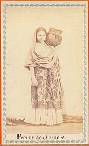 Native chamber-maid, Mexico, old Merille CDV 1865'