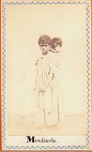 Native young beggar, Mexico, old Merille CDV 1865'
