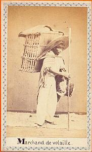 Native Poultry Seller, Mexico, old Merille CDV 1865'