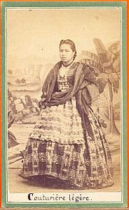 Native dressmaker, Mexico, old Merille CDV 1865'