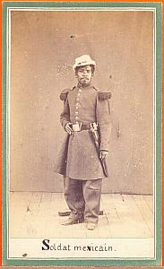 Mexican soldier, Mexico, old Merille CDV 1865'