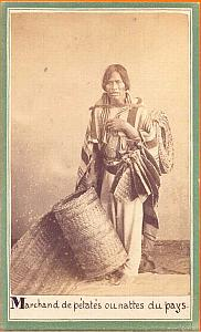 Native Petate Seller, Mexico, old Merille CDV 1865'
