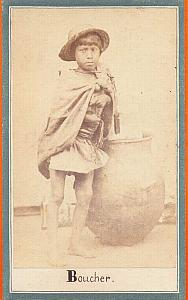Native Butcher Carnicero, Mexico, old Merille CDV 1865'