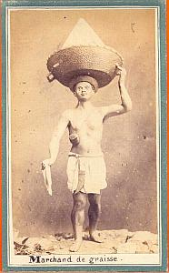 Mexican Grease Seller Mexico, old CDV 1865'