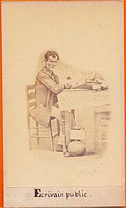 Public Writer, Mexico, old Michaud CDV 1865'