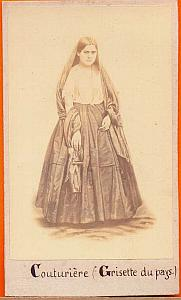 Dressmaker, Mexico, old Michaud CDV 1865'