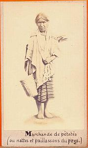Native petate Seller, Mexico, old Michaud CDV 1865'