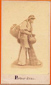 Native Water-Carrier, Mexico, old Michaud CDV 1865'