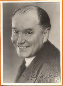 F. Tramel, French actor, old Piaz Photo 1940', signed