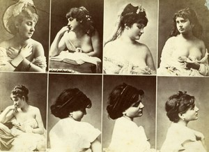 8 Images Posed Sexy Female Risque Calavas Photo 1870'