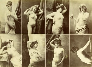 8 Images Posed Nude Female Risque Calavas Photo 1870'