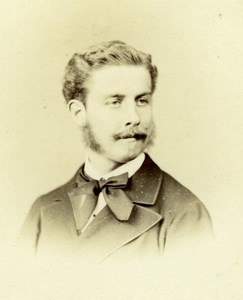 Anonymous Man Portrait, Lejeune Cabinet Photo CC 1868