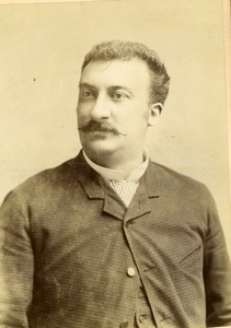 F. Denoye, french Opera Tenor singer, old Photo CC 1883