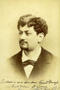 Passerin french tenor Opera signed, old Photo CC 1880