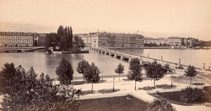 Geneva Lake, Switzerland, old Frith Photo 1870's