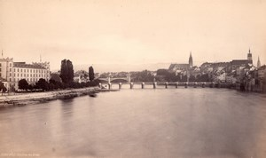 Bale Basel Switzerland, old Frith Photo 1880