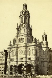 France Paris Sainte-Trinité Church old Achille Quinet Photo 1860
