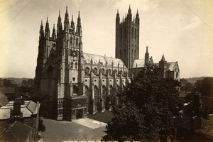 Canterbury Cathedral Great Britain, old Photo GWW 1880'