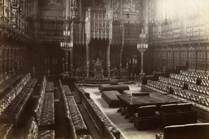 House of Lords Parliament London, old Photo GWW 1880'