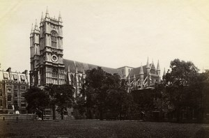 Westminster Abbey, London, old Photo GWW 1880'