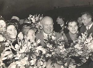 Russian President Nikita Khrushchev Trip to America 1959 Lot of 62 Old Photos